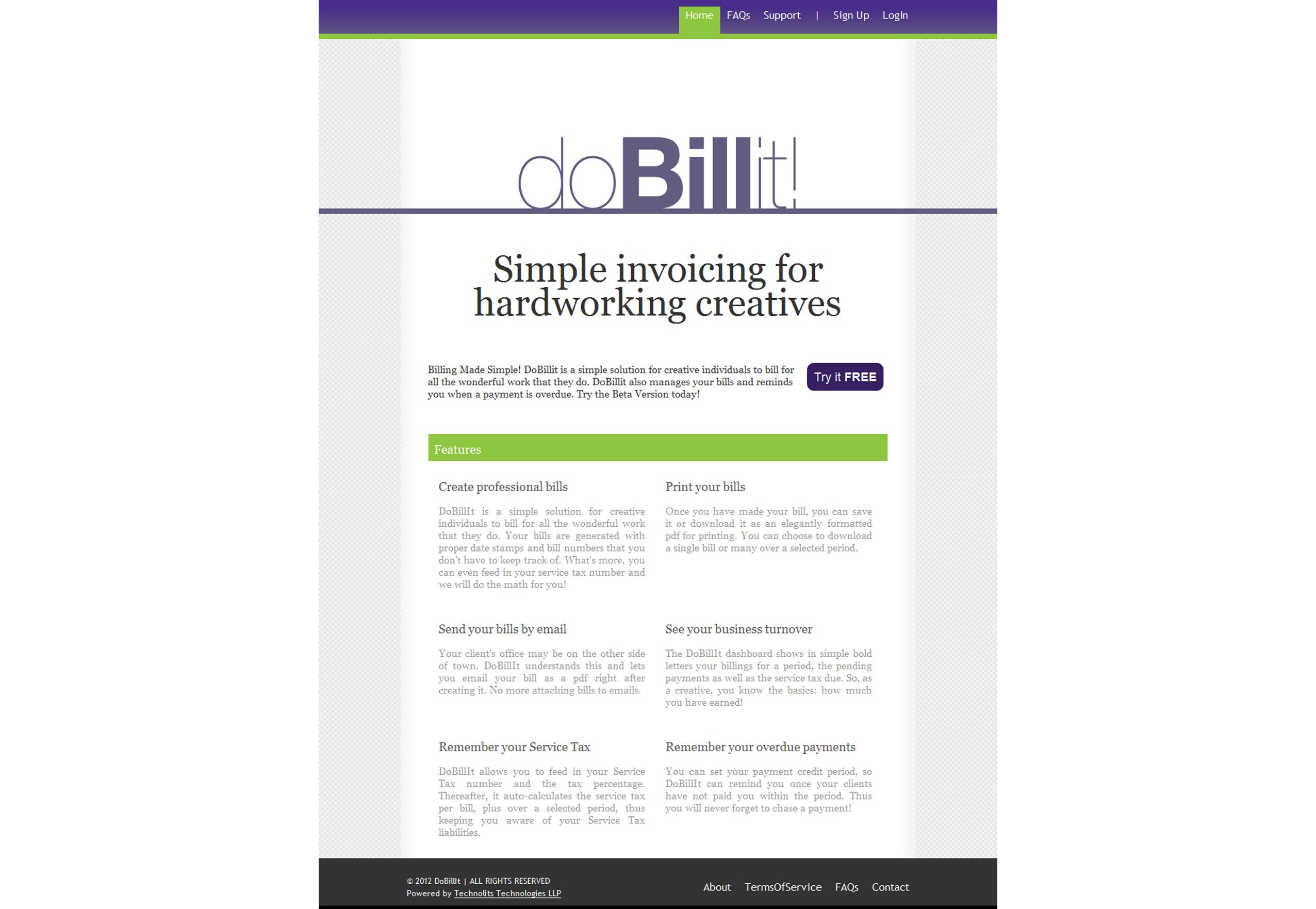 DoBillIt home page
