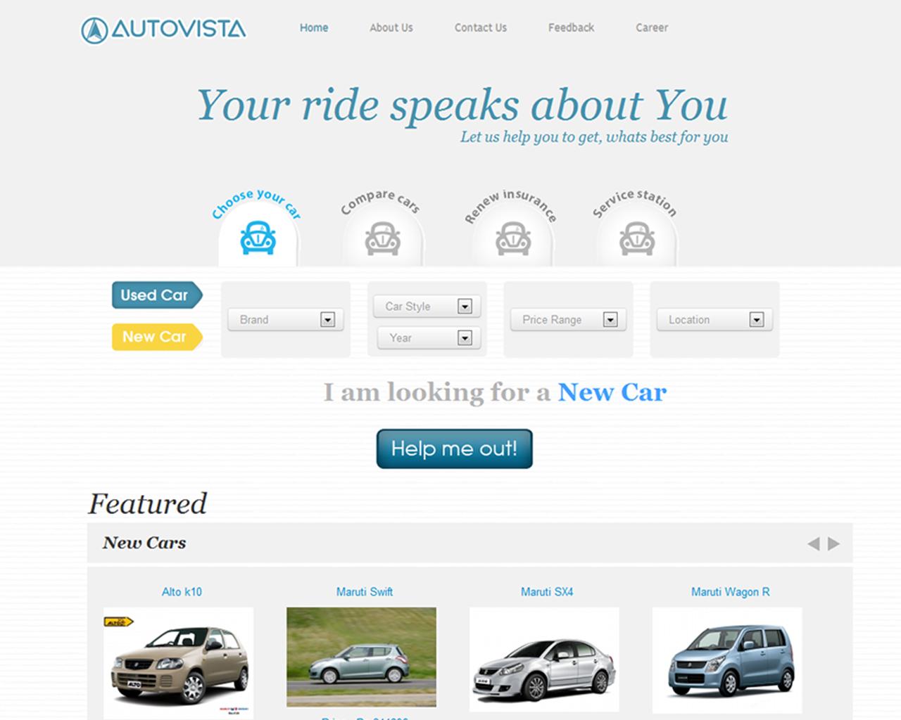 Autovista upper home page