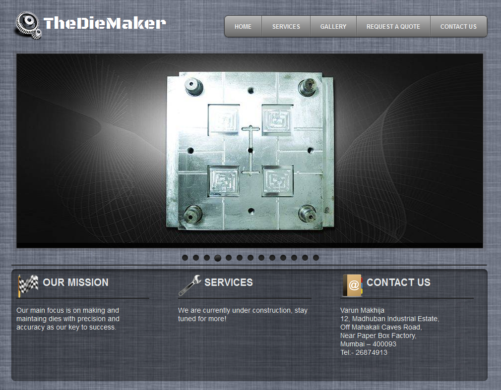 TheDieMaker Home Page